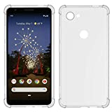 USTIYA for Google Pixel 3A XL Case Clear TPU Four Corners Cover Transparent Soft funda