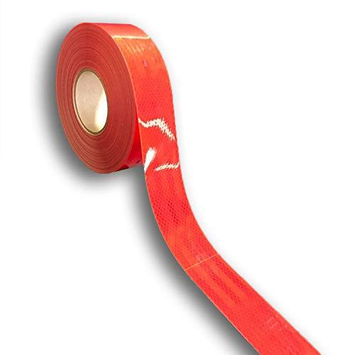 easydruck24de 3M Diamond Grade 983 reflektierende Konturmarkierung I 3 m Konturband in rot I Reflektorband selbstklebend für Anhänger LKW Festaufbauten I AZ_002