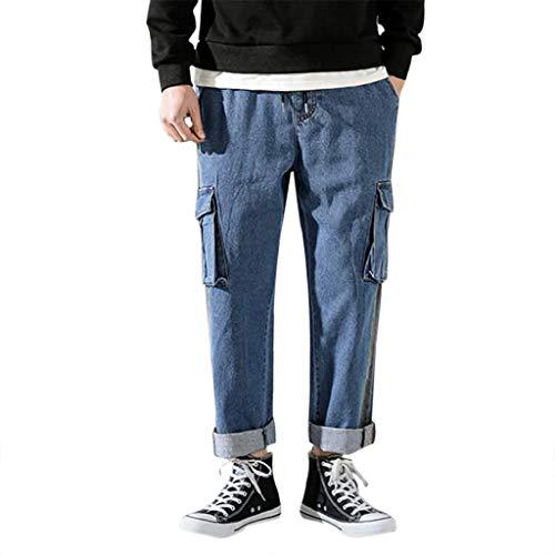 Styledresser-Pants Herren Relaxed Hose, Relaxed, Casual Pantaloni, Blau, Casual Pantaloni XL