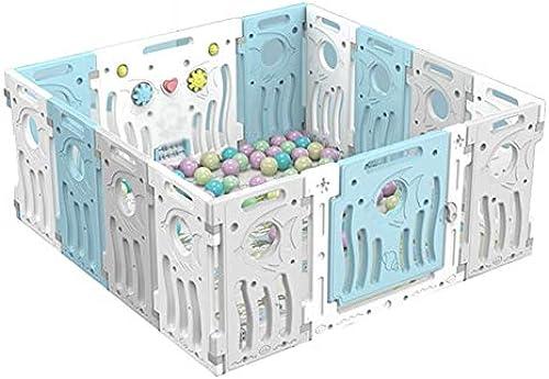 Faltbarer Kompakter Babyspielzaun - Babyspielstiftzaun - Aktivit zentrum Für Baby-Sicherheitsspiele - Tragbarer Raumteiler Kind Kinder Barriere (Farbe   14panels - 141x141x6cm)