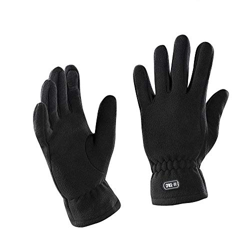 M-Tac Winter Insulated Fleece Gloves Tactical Military Cold Weather (Black, L)