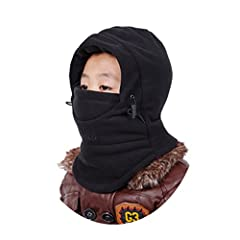 One size fits most boys and girls;Head circumference:20.5-21.3 inches Thicken fabric comfort and soft Suitable for all winter outdoor activities Double warm design Can keep warm for your face,nose,ears,and neck,Perfect protection for sping fall and w...