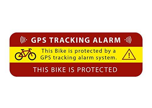 2 Stück GPS Aufkleber Tracking Alarm für Fahrrad Warnung Hinweis auf GPS-Sicherung Außenklebend für Fensterscheiben Auto Motorrad LKW Baumaschinen