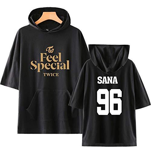 KPOP Twice Hoodies T Shirts Camiseta con Capucha de Manga Corta Feel Special...