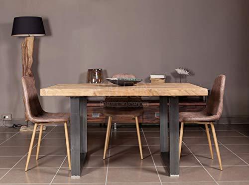 Xlab Design Tavolo in Legno Grezzo 140X85X75 Rovere Country Greg Realizzato a Mano Made in Italy