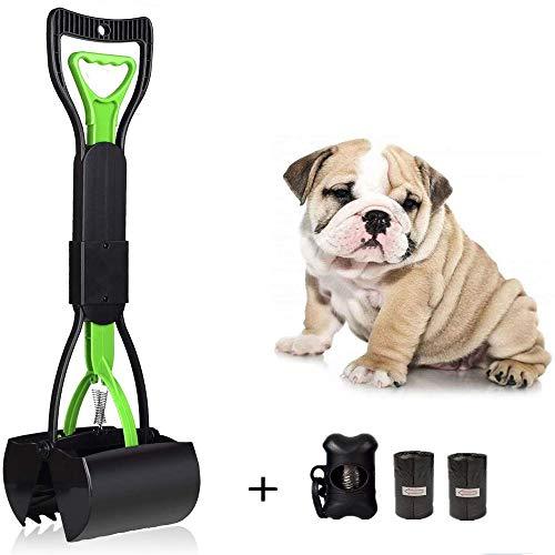 Manico Animale Domestico Pooper Scooper e Tasche 60 cm per Cani, Easy Clean UP verrichten per Tutti Gli Animali Domestic, Portatile Scoop di Poop Dog con Dispenser, Cortile Pooper Scooper