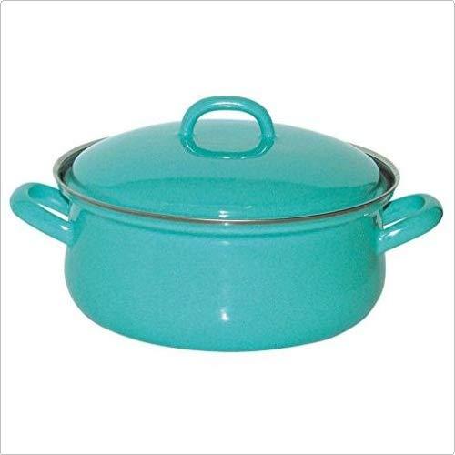 Riess, 0613-060, Kasserolle mit Deckel, CLASSIC FRESH SKY BLUE, Durchmesser 20 cm, Inhalt 2,0 Liter, Emaille, blau