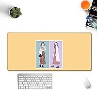 スカンジナビアスタイルのシンプルなマウスパッドの女の子ロック側マウスパッド特大の汚れに強い肥厚キーボードテーブルマット (A4,500*1000*3mm)