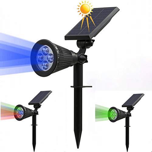 GKJRKGVF Ledlamp op zonne-energie, RGB, kleurverandering, tuin, landschap, buitenverlichting, decoratie, zonnelamp