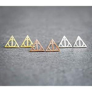 Geometrische Ohrstecker – Silberfarben – Goldfarben – Rose Goldfarben