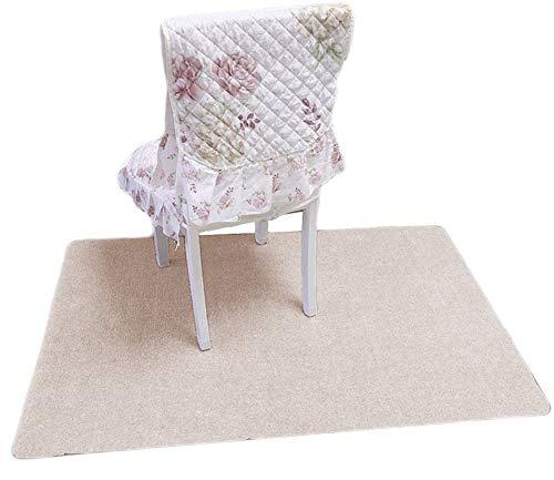jHuanic Rechteckige Stuhlmatte, Schreibtisch-Teppich, Schutz-Möbelteppich, große rutschfeste Fußmatte, Abdeckung für Zuhause, Büro, Wohnzimmer (Beige, 120 x 90 cm)