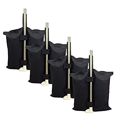 ZMAYI 4pcs/Pack Heavy Duty Sandbag for Pop up Canopy Leg Sun Shelter Tents Feet, Versatile Anchor Bags