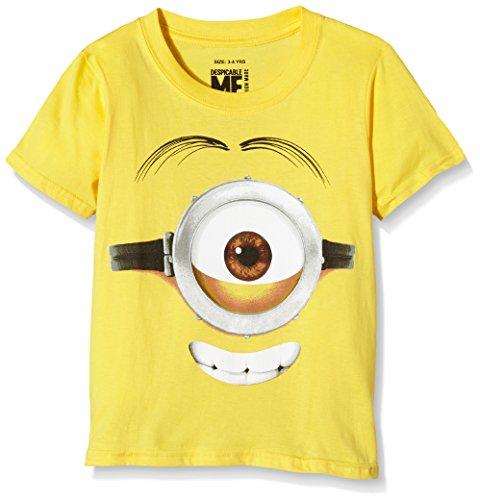 MINIONS Jungen Stuart Face T-Shirt, gelb, 5-6 Jahre