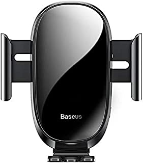 Baseus Smart Car Mount Cell Phone Holder with Intelligent sensing one-handed operation Black