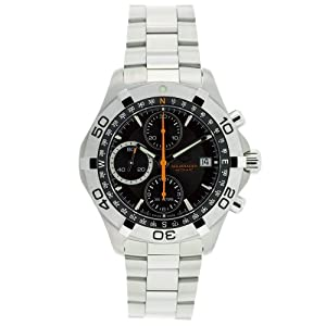 TAG Heuer Men's CAF2113.BA0809 Aquaracer Swiss Automatic Black Dial Watch image