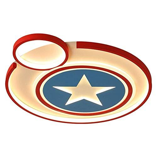 SKSNB Capitán América Lámpara de Techo para habitación de niños Lámpara de Techo LED Creativa Regulable con Control Remoto Pantalla de lámpara de acrílico de Metal Dormitorio Jardín de i