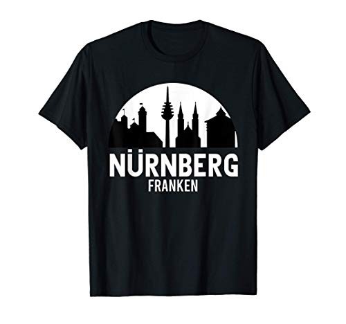Nürnberg Skyline Souvenir Franken 8500 Nürnberg T-Shirt