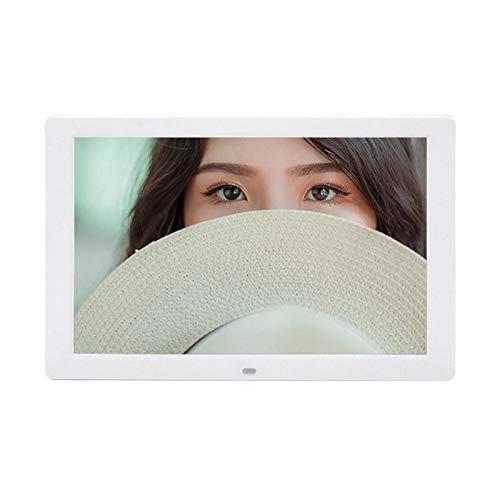 Digital Photo Frame 12.1 Inch Digital Photo Frame HD 1280x800 LED Display Back-Light Electronic Album Picture Music Video(White)