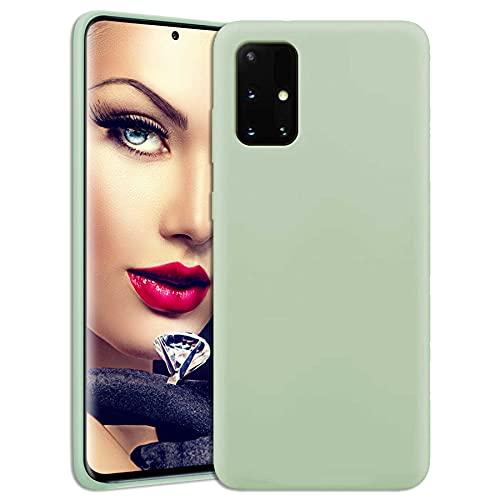 mtb more energy® Soft Silikon Hülle für Samsung Galaxy A32 5G (SM-A326, 6.5'') - hellgrün - Ultra Silk Touch - Liquid Silicone Hülle Handyhülle Cover Tasche