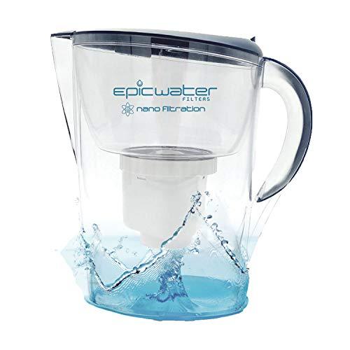 Epic-Wasserfilter-Krug |, 3,5l, BPA-frei, Chrom, entfernt Blei, Fluorid, Bakterien, Viren, Giardien cryptosporidium,-nanofiltration 6/PFOS PFOA, Metall, mit