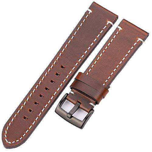 Correas de reloj de piel auténtica de estilo Vintage, accesorios de reloj, correa para hombre y mujer, correa de cuero de vaca 18 mm