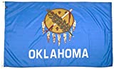 FlagSource Oklahoma Nylon State Flag, Made in USA, 4x6
