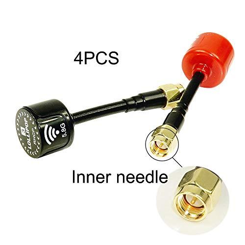 Es Gibt Zwei Möglichkeiten Lollipop FPV Antennen Zu Verbinden: Internal Stifte Und Innere Löcher, Geeignet Für Die Bildübertragung Und Renn Drohnen 4ST,Redinnerneedle