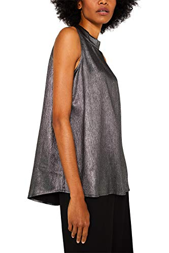 Esprit 119EE1F016 Blusas, Gris (Silver 090), 42 para Mujer