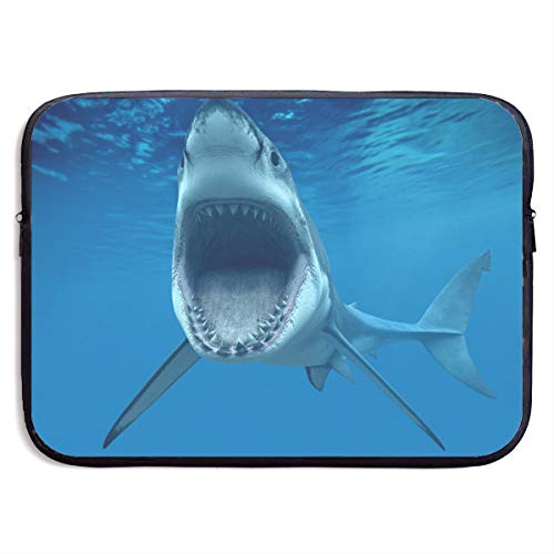 Funny Design Shark Underwater Laptop Sleeve Waterproof Neoprene Diving Fabric Protective Briefcase Laptop Bag for IPad, Notebook/Ultrabook/Acer/Asus/Dell
