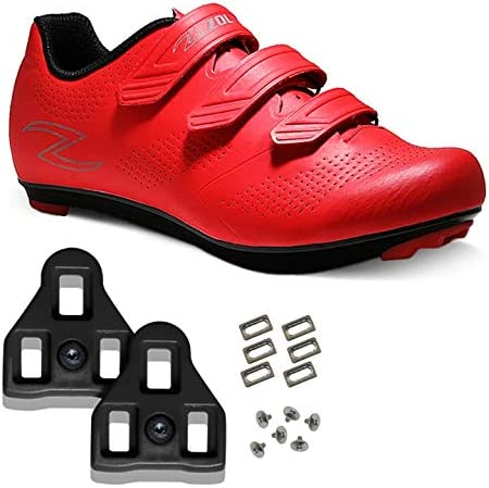 Zol Fondo Road Cycling Shoes with Look Delta Cleat Compatible with Peloton