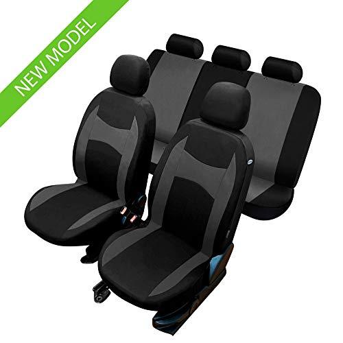 rmg-distribuzione Coprisedili per KADJAR Versione (2015 - in Poi) compatibili con sedili con airbag, bracciolo Laterale, sedili Posteriori sdoppiabili R01S0705