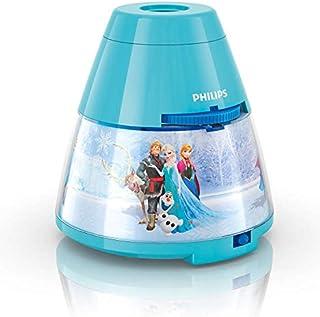 Philips Lighting Frozen 71769/08/16 Proyector y luz nocturna 2 en 1, 0.06 W, Azul