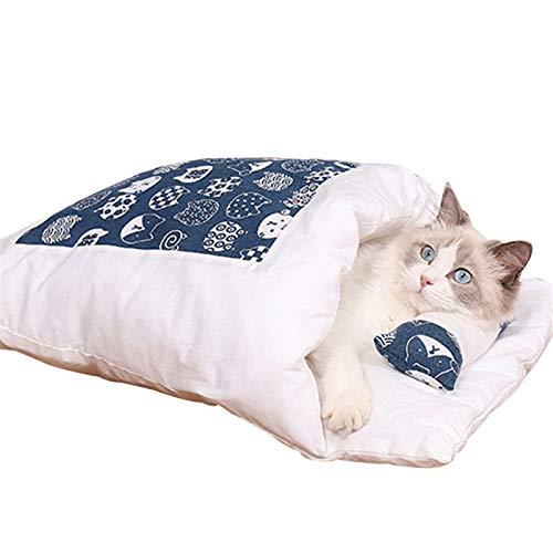 Dinah Warmer Katzenschlafsack Abnehmbares Katzenbett Winter Warmes Katzenhaus Kleines Haustierbett