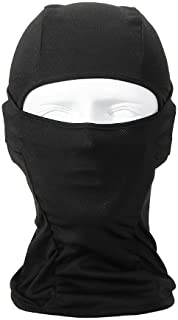 Bandana Lightweight Face Mask Balaclava Outdoor Motorcycle Mask (black)