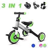 KORIMEFA 3 in 1 Triciclo per Bambini Bicicletta Equilibrio Adatto per età 1-3 Anni...