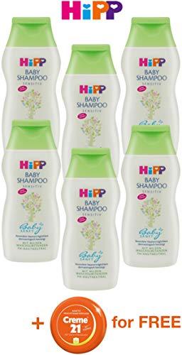 Pack of 6 Hipp Baby Shampoo Sensitive + 1 Free Item for Mama | Germany