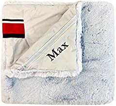 Pretty Rugged Faux Fur Luxe Customizable Pet Blanket || Embroidered with Your Pet's Name || Perfect for Carriers, Cars, Cages, and Much More!