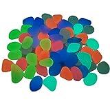 Piedras Luminosas Colorido Color Mezclado Guijarros Luminosos, Rocas Brillantes En La Oscuridad, Jardín De Acuario Césped Plantas De Interior Decoraciones De Grava De Resina, 100pcs / 200pcs