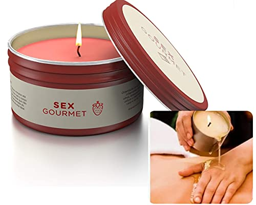 Vela Hidratante Beijável Sex Gourmet Morango