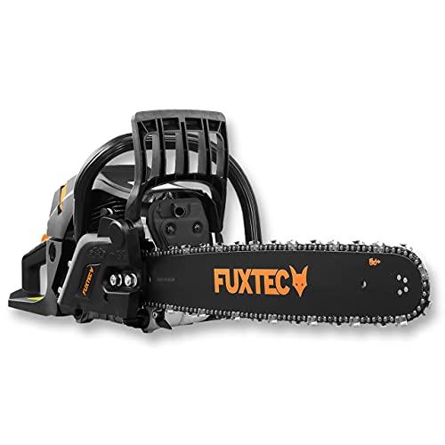 Motosega a scoppio FUXTEC a benzina FX-KS262 - 2,85kw 61,5cc cilindrata & EASY-Start - lunghezza barra 20 pollici incl. protezione barra & borsa di trasporto
