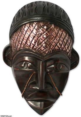 Amazon.com: Decorativo Novica sese madera máscara, café ...