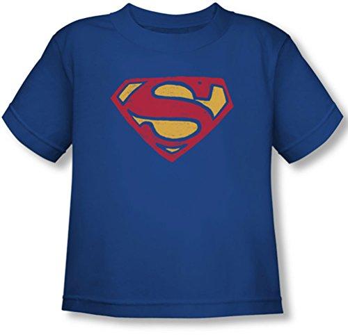 Superman - - Toddler Rugueux T-shirt super, 4T, Royal Blue
