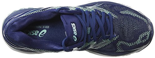 ASICS Women's Gel-Nimbus 20 Running Shoe, indigo blue/indigo blue/opal green, 7 Medium US 5
