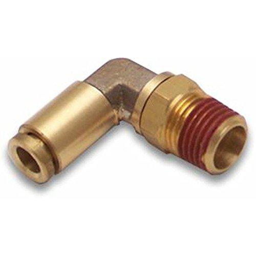 Helix 12010 1/4' NPT Male to 1/4' Push Tube Elbow Air Fitting