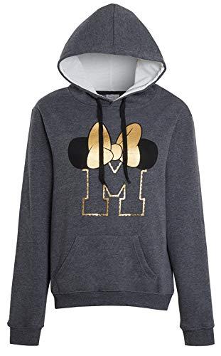 Disney Sweat à capuche Minnie Mouse en polaire pour femme - Gris - Medium