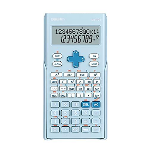 HJHJ Calculadora Científica Pantalla De 2 Líneas 240 Funciones con Tapa Posterior Deslizante For La Calculadora Portátil Estudiantil Universitaria Financiera (Color : Blue)