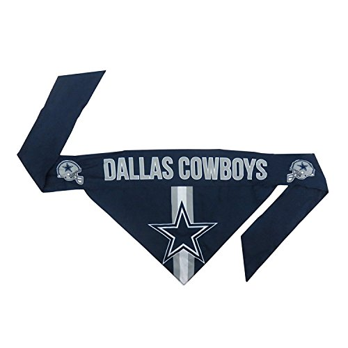 Littlearth NFL Dallas Cowboys Pet Bandanna, XL,Blue,X-Large