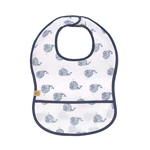 LÄSSIG Baby Kleinkind Lätzchen Auffangschutz wasserdicht Klettverschluss/Lightweight Bib, Little Water whale