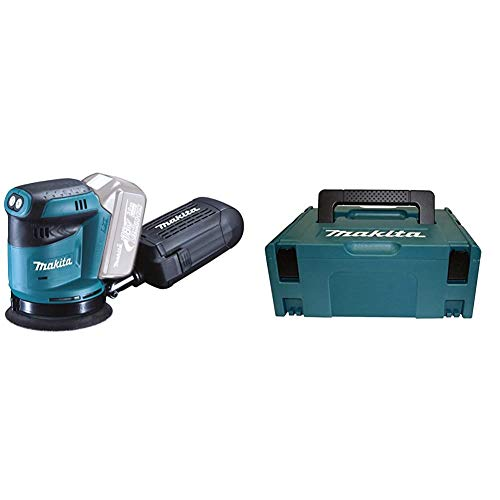 Makita DBO180Z Ponceuse Excentrique Ø 125 mm (Machine Seule) & 821550-0 - Maletin makpac tipo 2