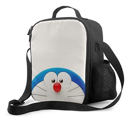 Lawenp Bolsa de almuerzo, lonchera aislada, bonita bolsa de asas de Doraemon, bolsa más fría, contenedores de preparación de comidas para mujeres, hombres y adultos